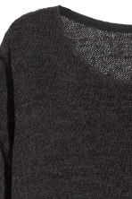 Loose-knit jumper - Black - Ladies | H&M CN 3
