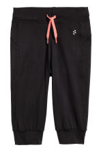 3/4-length sports trousers - Black - Kids | H&M 2