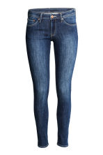 Super Skinny Low Jeans - Dark denim blue/Washed - Ladies | H&M CN 2