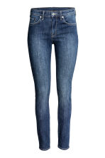 Skinny Regular Jeans - 深牛仔蓝/水洗 - Ladies | H&M CN 2