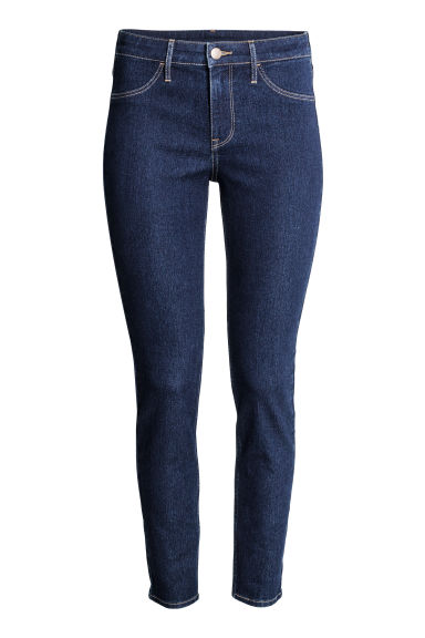 Skinny Regular Ankle Jeans - Dark denim blue - Ladies | H&M CN