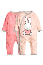 2-pack all-in-one pyjamas - Powder pink/Miffy - Kids | H&M 1
