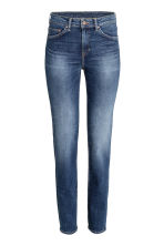 Straight Regular Jeans - Azul denim oscuro rugged rinse - MUJER | H&M ES 2