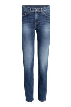 Straight Regular Jeans - Azul denim oscuro rugged rinse - MUJER | H&M ES 4