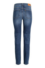 Straight Regular Jeans - Azul denim oscuro rugged rinse - MUJER | H&M ES 3