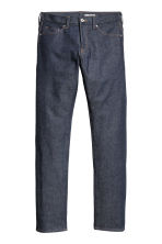 Slim Low Jeans - Dark denim blue/Raw - Men | H&M 2
