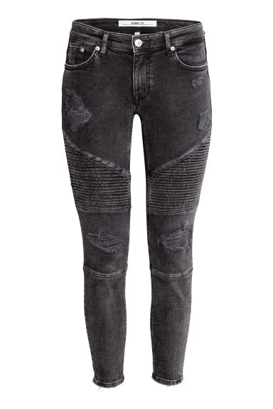 Bikerjeans - Skinny fit - Zwart washed out -  | H&M NL