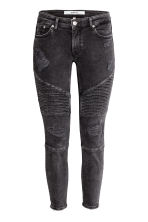 Biker jeans Skinny fit - Black washed out - Ladies | H&M 2