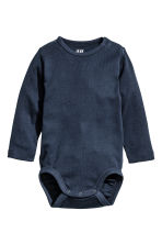 2-pack long-sleeved bodysuits - Dark blue -  | H&M 2