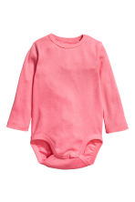 2件入長袖連身衣 - Powder pink/Hearts - Kids | H&M 2