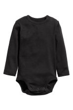2-pack long-sleeved bodysuits - Grey/Letter -  | H&M 2