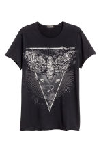 T-shirt stampata - Nero/falena - UOMO | H&M IT 2