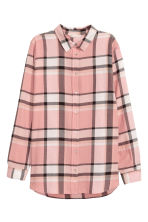 Flannel shirt - Powder pink/Checked - Ladies | H&M 2