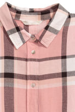 Flannel shirt - Powder pink/Checked -  | H&M CN 3