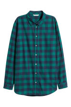 Flannel shirt - Dark green/Checked - Ladies | H&M 2