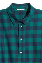 Flannel shirt - Dark green/Checked - Ladies | H&M 3