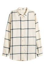Flannel shirt - Natural white/Checke - Ladies | H&M CN 2