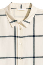 Flannel shirt - Natural white/Checke - Ladies | H&M CN 3