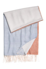 Block-patterned scarf - Light blue - Ladies | H&M CA 2