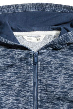 Hooded jacket - Dark blue marl - Kids | H&M 3