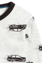 Long-sleeved T-shirt - Light grey/Cars - Kids | H&M 3