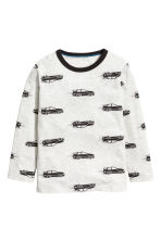 Long-sleeved T-shirt - Light grey/Cars - Kids | H&M CN 2