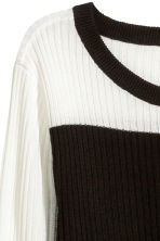 Rib-knit jumper - Black/Green - Ladies | H&M 3