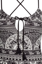 Patterned swimsuit - Black/White/Patterned - Ladies | H&M 4