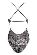 Patterned swimsuit - Black/White/Patterned - Ladies | H&M 3