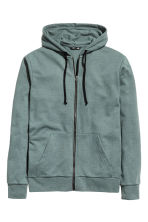 Hooded jacket - Grey green - Men | H&M CN 2