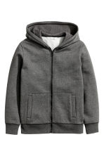 Hooded jacket - Dark grey marl -  | H&M 2