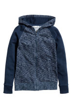 Hooded jacket - Dark blue marl - Kids | H&M CN 2