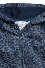 Hooded jacket - Dark blue marl -  | H&M CN 3