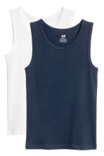 2-pack vest tops - Dark blue - Kids | H&M CN 2