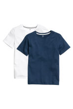 Set van 2 T-shirts - Donkerblauw -  | H&M BE 4