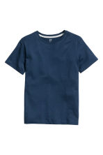 Set van 2 T-shirts - Donkerblauw -  | H&M BE 5