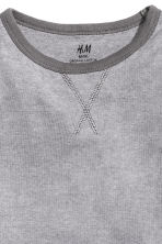 Long-sleeved T-shirt - Dark grey/Narrow striped -  | H&M 2