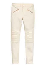 Biker trousers - Natural white -  | H&M 2