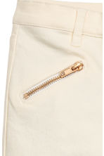 Biker trousers - Natural white -  | H&M 5