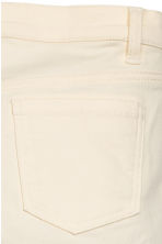 Biker trousers - Natural white -  | H&M 4