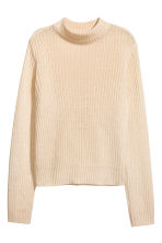 Rib-knit jumper - Light beige - Ladies | H&M 2
