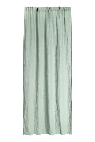 Washed linen curtain length - Dusky green - Home All | H&M CN 1