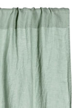 Washed linen curtain length - Dusky green - Home All | H&M CN 2