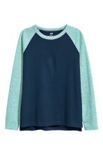 Long-sleeved T-shirt - Dark blue -  | H&M 2