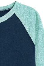 Long-sleeved T-shirt - Dark blue -  | H&M 3