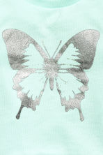 Printed sweatshirt - Mint green/Butterfly - Kids | H&M 3