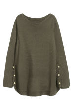 H&M+ Jumper with metal buttons - Dark Khaki - Ladies | H&M 2