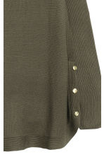 H&M+ Jumper with metal buttons - Dark Khaki - Ladies | H&M 3