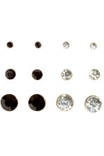 9-pack earrings - Black/White - Ladies | H&M 2