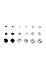 9-pack earrings - Black/White - Ladies | H&M CA 1